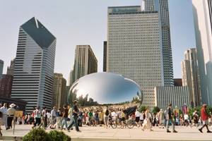 The Bean reflects Chicago